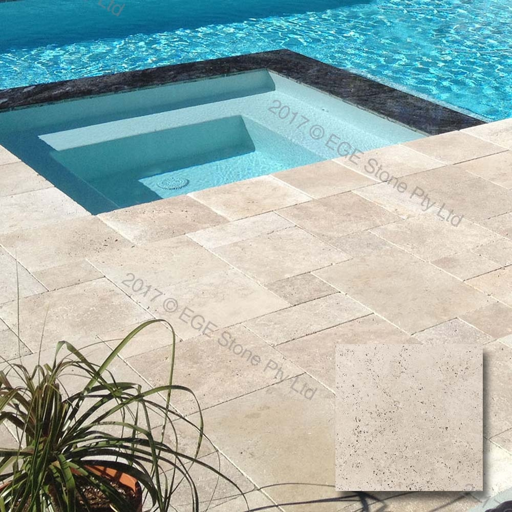 Travertine Tumbled Pavers and Tiles - OUTDOOR - EGE Stone